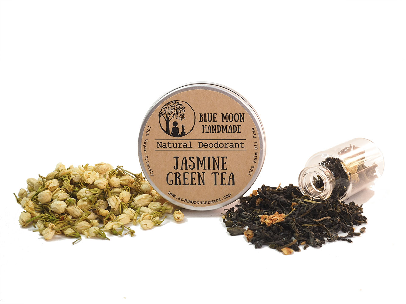 Jasmine Green Tea Deodorant Blue Moon Handmade